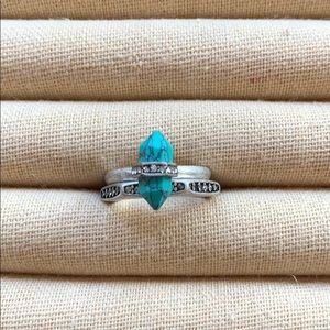 Chloe + Isabel Medina Turquoise Stackable Rings